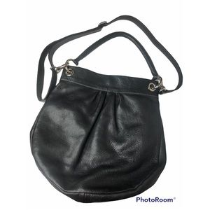 ROOTS Canada Olivia Cross Body Messenger Purse Black Hobo Bag